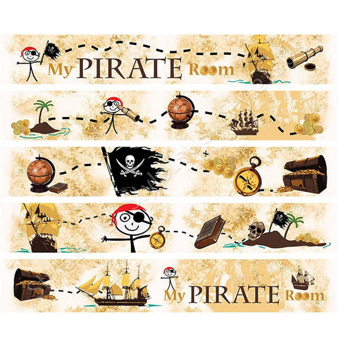 Alonline Designs Strip border sticker my pirate room | Canvas, Posters, Prints & Stickers - StyleIsUS.com