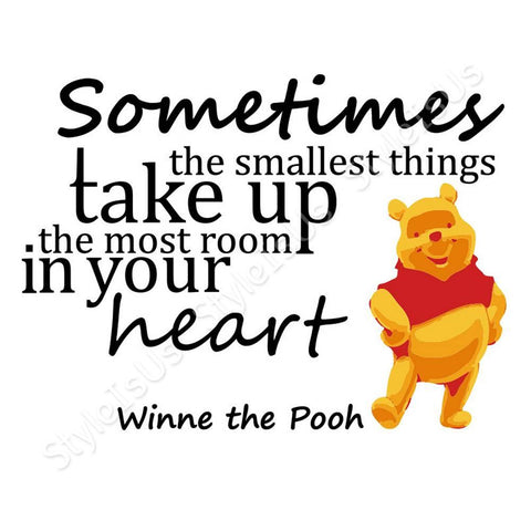 Alonline Designs Sometimes the smallest things. Winnie the Pooh | Canvas, Posters, Prints & Stickers - StyleIsUS.com