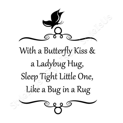 Alonline Designs Butterfly kiss Sleep tight | Canvas, Posters, Prints & Stickers - StyleIsUS.com