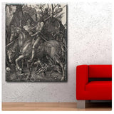 Albrecht Durer Knight Death and the Devil | Canvas, Posters, Prints & Stickers - StyleIsUS.com