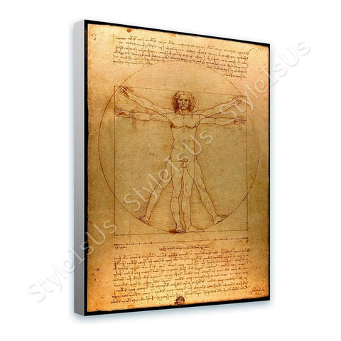 Leonardo da Vinci The Vitruvian Man | Canvas, Posters, Prints & Stickers - StyleIsUS.com