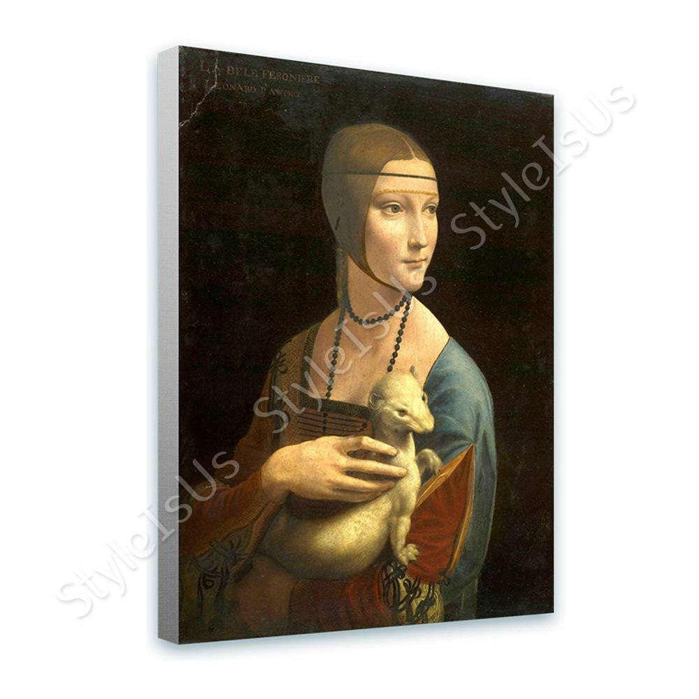 Leonardo da Vinci Lady with an ermine | Canvas, Posters, Prints & Stickers - StyleIsUS.com
