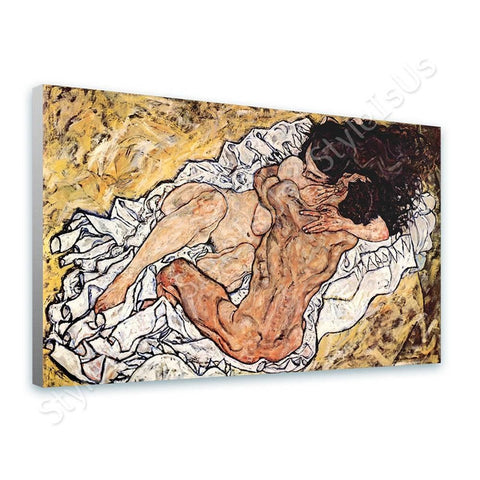 Egon Schiele The Embrace | Canvas, Posters, Prints & Stickers - StyleIsUS.com