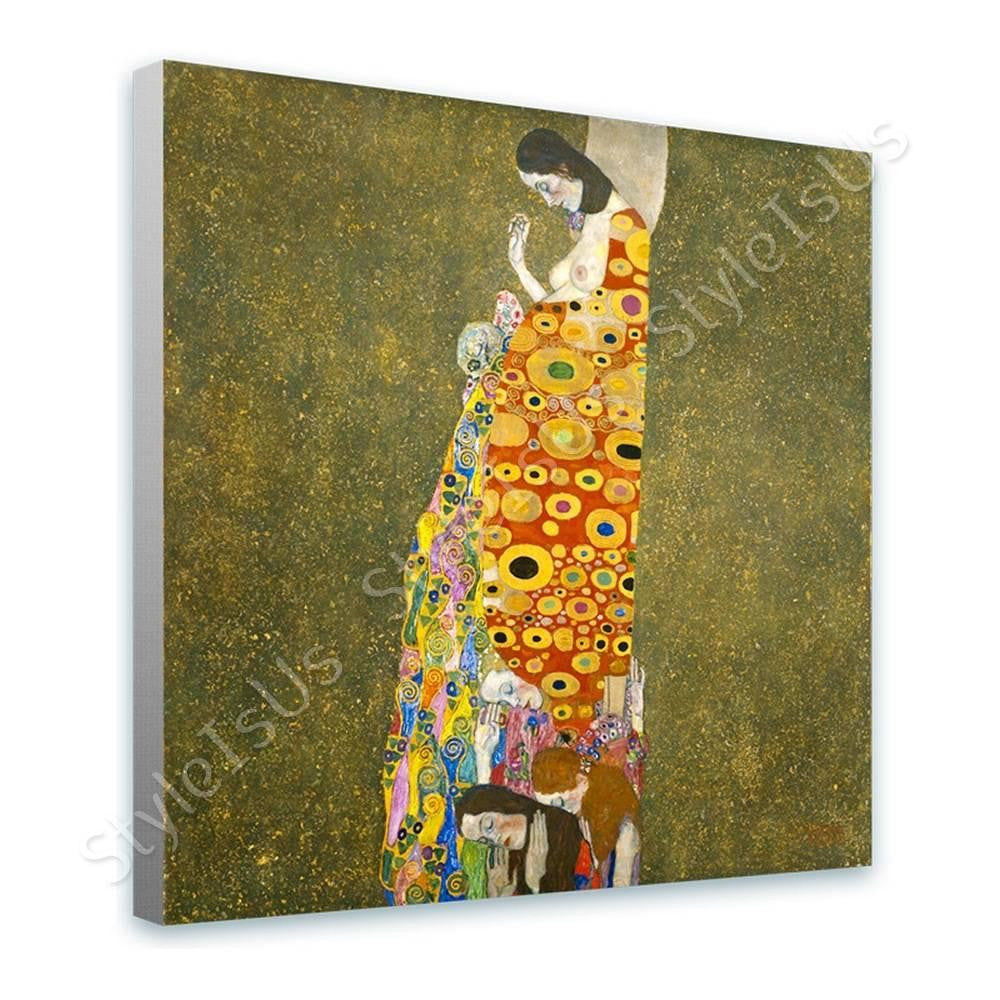Gustav Klimt Hope II | Canvas, Posters, Prints & Stickers - StyleIsUS.com