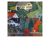 Gustav Klimt Houses at Unterach | Canvas, Posters, Prints & Stickers - StyleIsUS.com