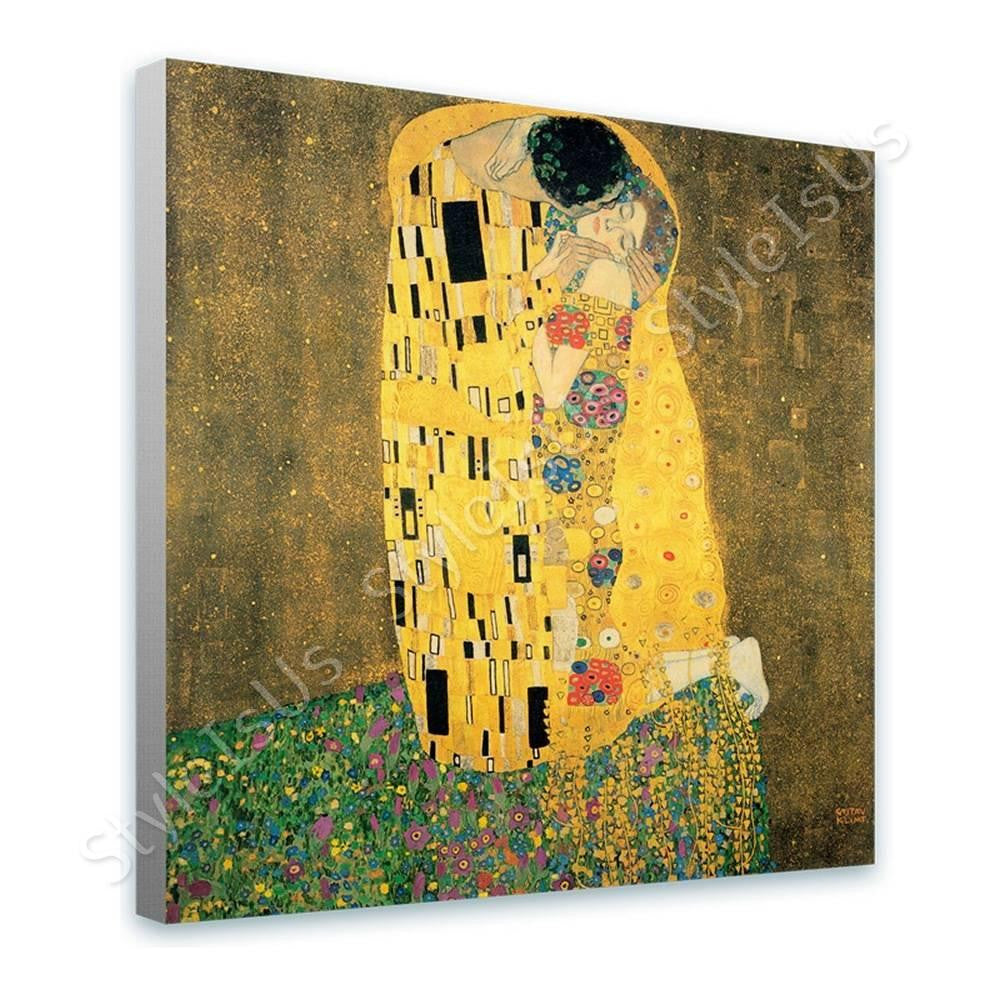 Gustav Klimt The Kiss | Canvas, Posters, Prints & Stickers - StyleIsUS.com