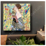 Gustav Klimt Lady with a Fan | Canvas, Posters, Prints & Stickers - StyleIsUS.com
