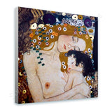 Gustav Klimt Mother and Child | Canvas, Posters, Prints & Stickers - StyleIsUS.com