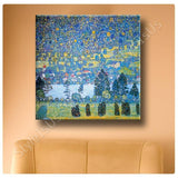 Gustav Klimt Mountain Slope at Unterach | Canvas, Posters, Prints & Stickers - StyleIsUS.com