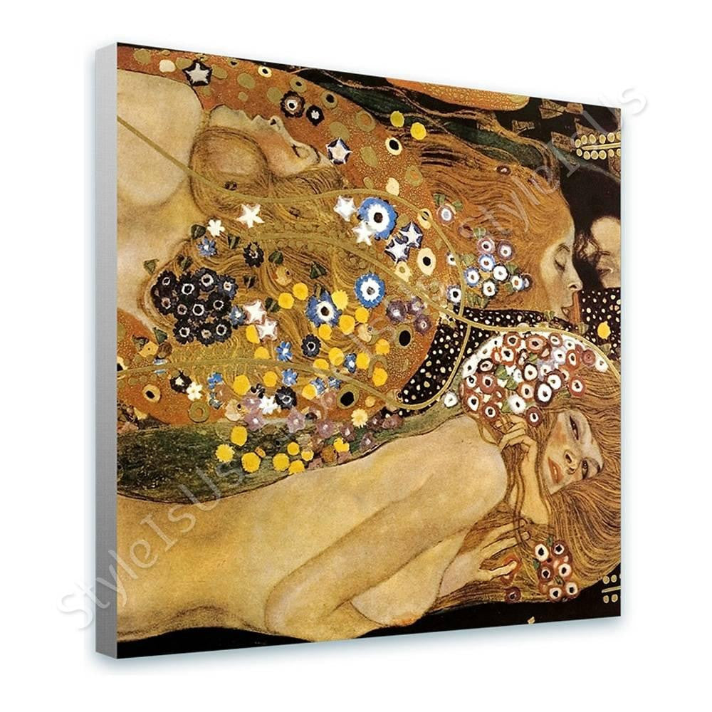 Gustav Klimt Water Snakes Serpents II | Canvas, Posters, Prints & Stickers - StyleIsUS.com