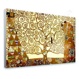 Gustav Klimt Tree of life yellow | Canvas, Posters, Prints & Stickers - StyleIsUS.com