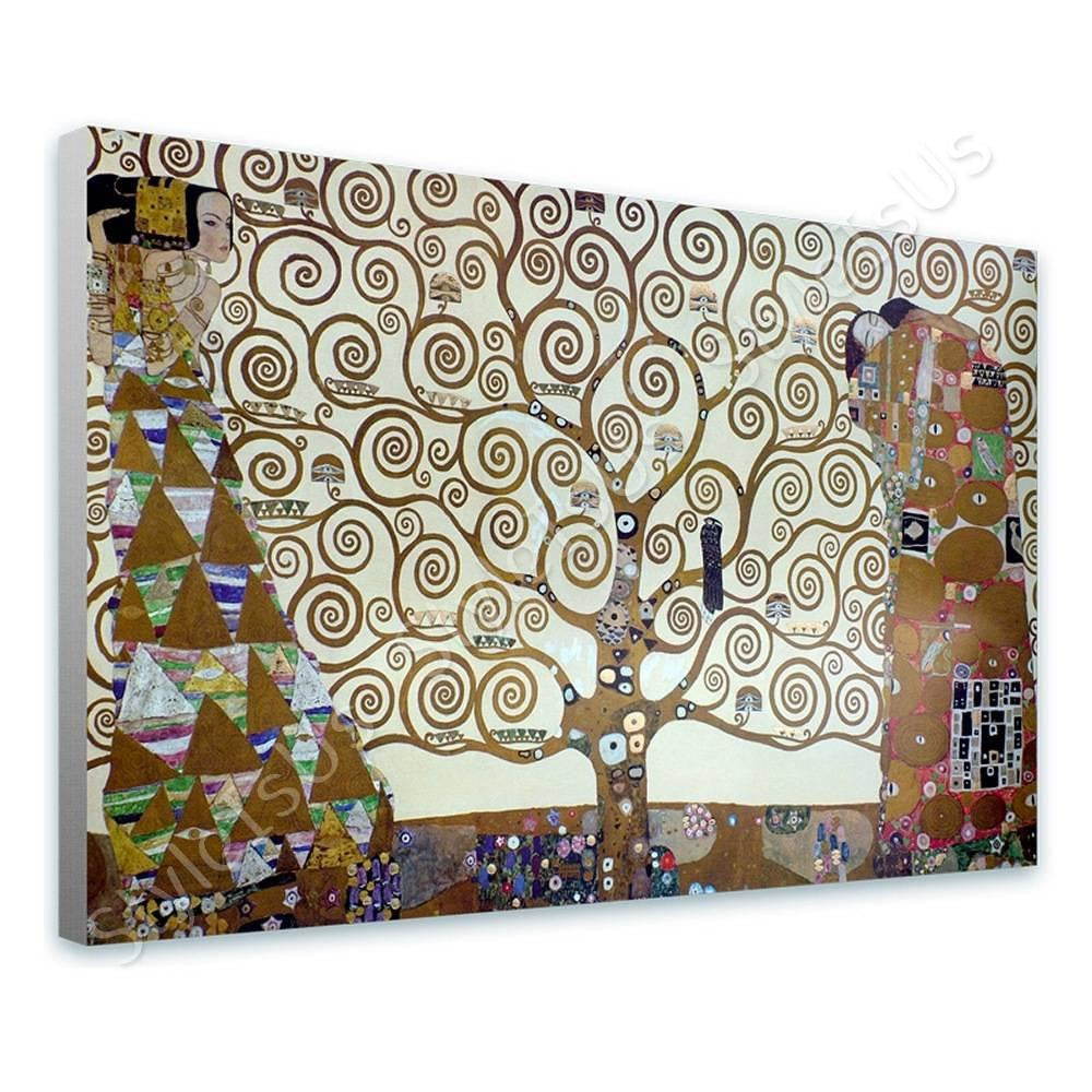 Gustav Klimt Tree of life gray | Canvas, Posters, Prints & Stickers - StyleIsUS.com