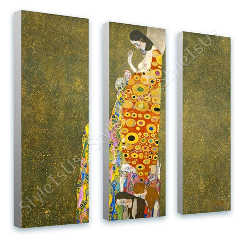 Gustav Klimt Hope II 3 Panels | Canvas, Posters, Prints & Stickers - StyleIsUS.com