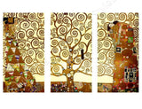 Gustav Klimt Tree of Life 3 Panels | Canvas, Posters, Prints & Stickers - StyleIsUS.com