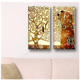 Gustav Klimt Tree of Life 2 Panels | Canvas, Posters, Prints & Stickers - StyleIsUS.com