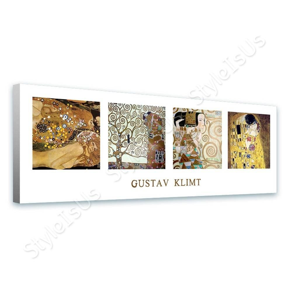 Gustav Klimt Collage Tree of life kiss Water Serpents | Canvas, Posters, Prints & Stickers - StyleIsUS.com