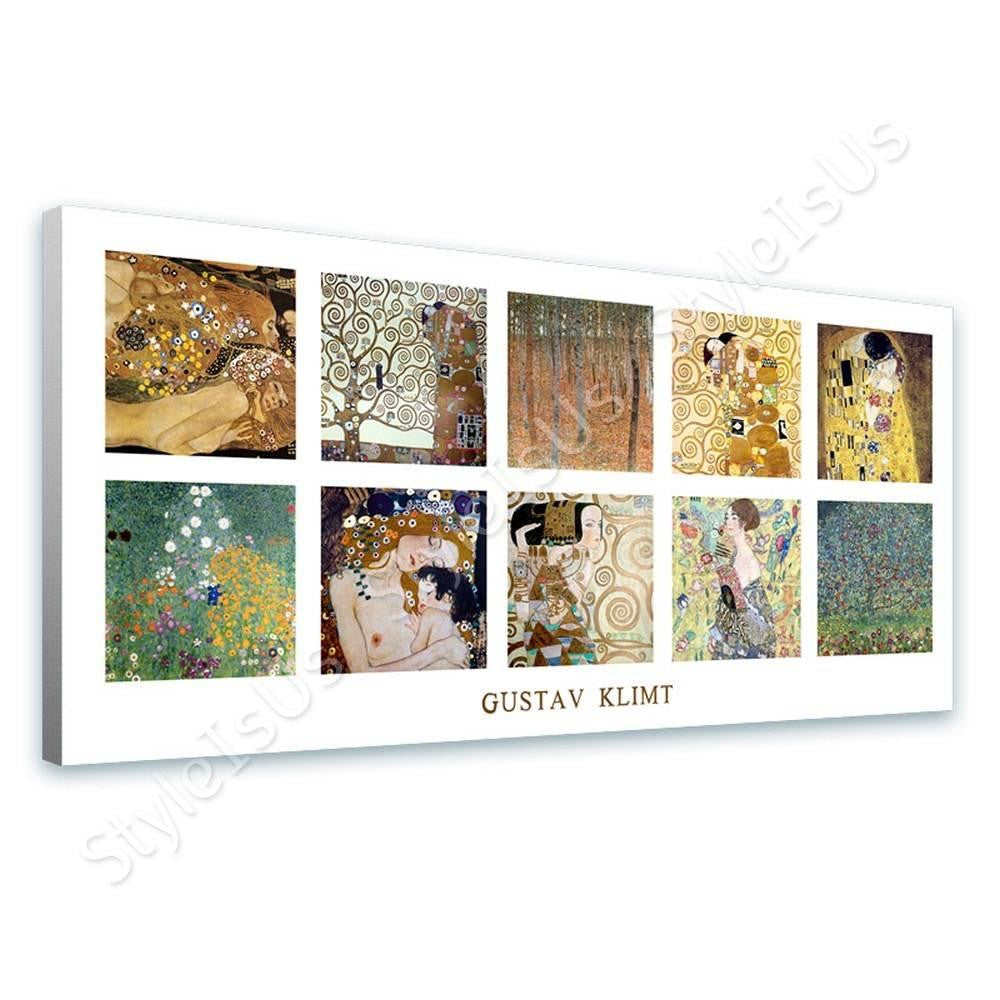 Gustav Klimt Collage 10 women tree life kiss apple | Canvas, Posters, Prints & Stickers - StyleIsUS.com