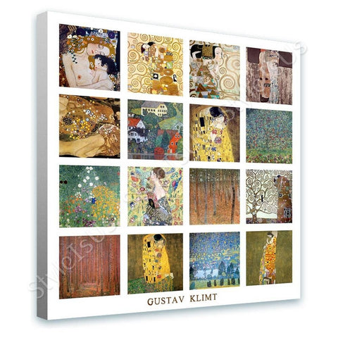 Gustav Klimt Collage 16 houses unterach hope | Canvas, Posters, Prints & Stickers - StyleIsUS.com