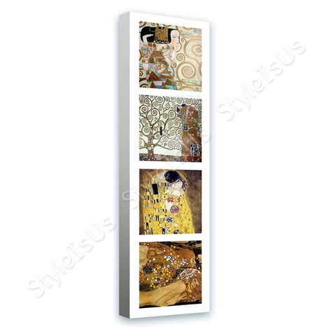 Gustav Klimt Collage 4 expectation kiss tree | Canvas, Posters, Prints & Stickers - StyleIsUS.com