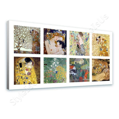 Gustav Klimt Collage 8 tree mother fan houses | Canvas, Posters, Prints & Stickers - StyleIsUS.com