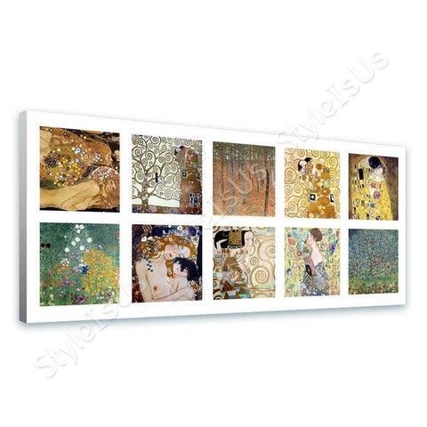 Gustav Klimt Collage 10 apple tree kiss embrace | Canvas, Posters, Prints & Stickers - StyleIsUS.com