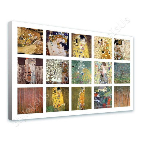 Gustav Klimt Collage 15 water snakes mother embrace | Canvas, Posters, Prints & Stickers - StyleIsUS.com