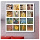 Gustav Klimt Collage 16 trees kiss flowers fan | Canvas, Posters, Prints & Stickers - StyleIsUS.com