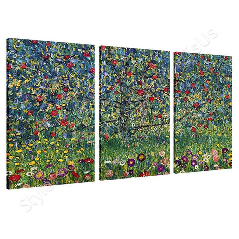 Gustav Klimt Apple Tree 3 Panels | Canvas, Posters, Prints & Stickers - StyleIsUS.com