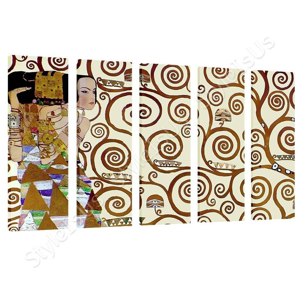 Gustav Klimt Tree of Life 5 Panels | Canvas, Posters, Prints & Stickers - StyleIsUS.com