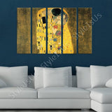 Gustav Klimt The Kiss 5 Panels | Canvas, Posters, Prints & Stickers - StyleIsUS.com