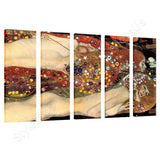 Gustav Klimt Water Snakes Serpents II 5 Panels | Canvas, Posters, Prints & Stickers - StyleIsUS.com