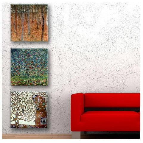 Gustav Klimt forest tree apple Set Of 3 | Canvas, Posters, Prints & Stickers - StyleIsUS.com
