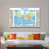 World Map Physical Modern Flags | Canvas, Posters, Prints & Stickers - StyleIsUS.com