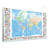 World Map Political Modern Flags | Canvas, Posters, Prints & Stickers - StyleIsUS.com