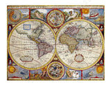 World Map Antique Old Vintage V1 | Canvas, Posters, Prints & Stickers - StyleIsUS.com