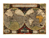 World Map Antique Old Vintage V2 | Canvas, Posters, Prints & Stickers - StyleIsUS.com