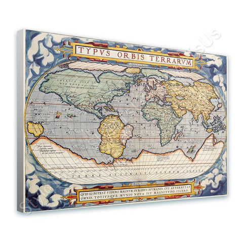 World Map Antique Old Vintage V3 | Canvas, Posters, Prints & Stickers - StyleIsUS.com