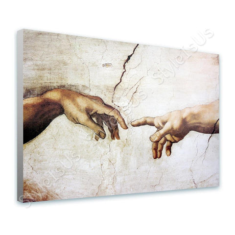 Michelangelo The Creation of man | Canvas, Posters, Prints & Stickers - StyleIsUS.com