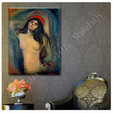 Edvard Munch Madonna | Canvas, Posters, Prints & Stickers - StyleIsUS.com