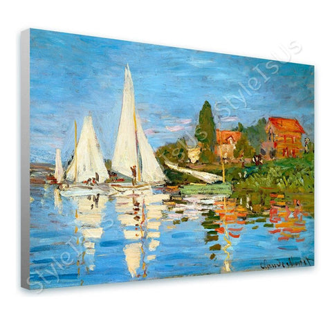 Claude Monet Regatta at Argenteu | Canvas, Posters, Prints & Stickers - StyleIsUS.com
