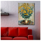 Claude Monet Jerusalem artichoke | Canvas, Posters, Prints & Stickers - StyleIsUS.com