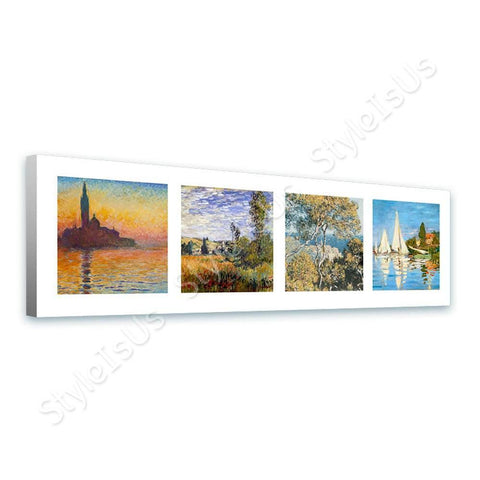 Claude Monet Collage 4 San Giorgio Landscape Regatta | Canvas, Posters, Prints & Stickers - StyleIsUS.com