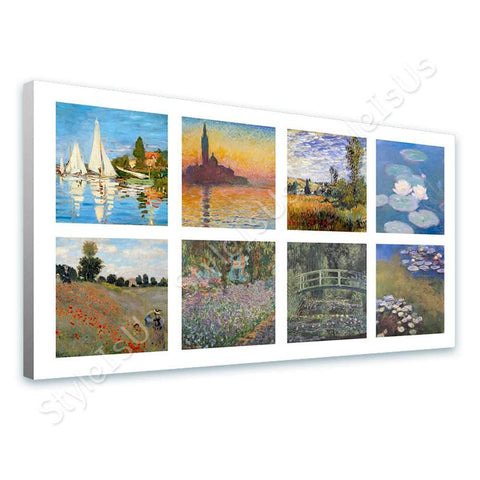 Claude Monet Collage 8 Regatta Giorgio Water lilies | Canvas, Posters, Prints & Stickers - StyleIsUS.com