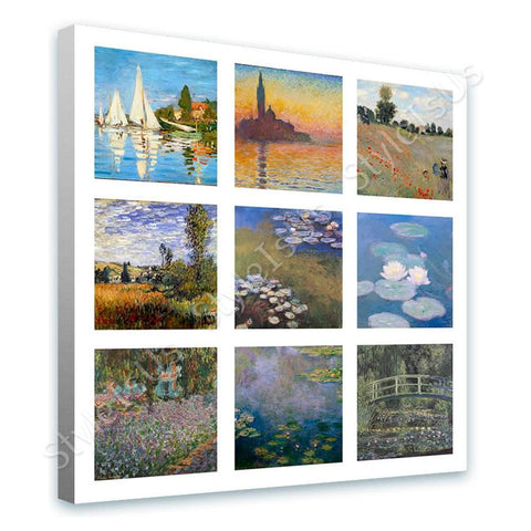 Claude Monet Collage 9 Water lilies Sinfonia Wild Poppies | Canvas, Posters, Prints & Stickers - StyleIsUS.com