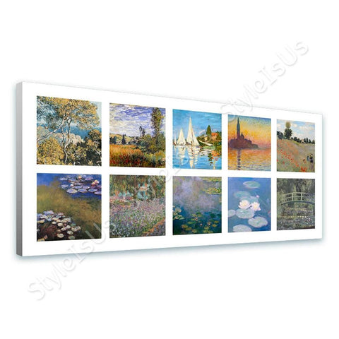 Claude Monet Collage 10 Wild Poppies Water lilies Sinfonia | Canvas, Posters, Prints & Stickers - StyleIsUS.com