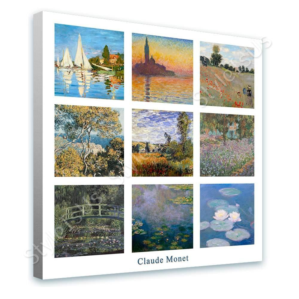 Claude Monet Collage 9 Regatta Sinfonia Water lilies | Canvas, Posters, Prints & Stickers - StyleIsUS.com
