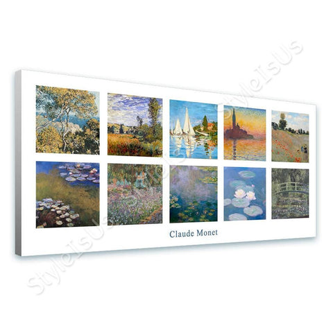 Claude Monet Collage 10 Giorgio Regatta Sinfonia | Canvas, Posters, Prints & Stickers - StyleIsUS.com