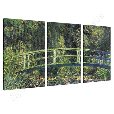 Claude Monet Water lily pond 3 Panels | Canvas, Posters, Prints & Stickers - StyleIsUS.com