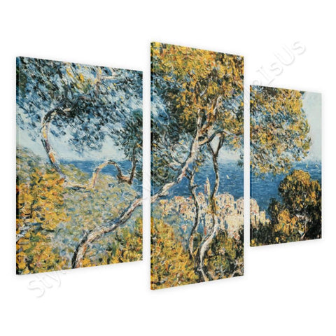 Claude Monet Bordighera 3 Panels | Canvas, Posters, Prints & Stickers - StyleIsUS.com