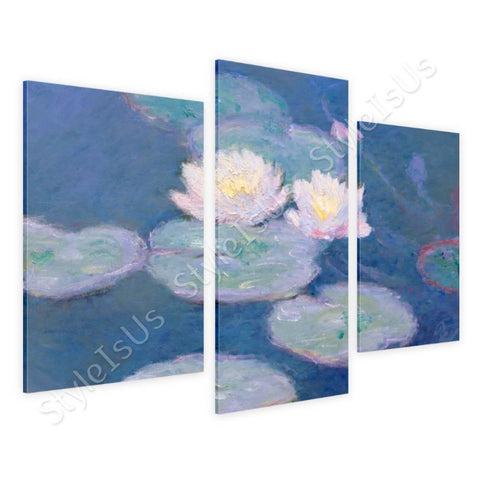 Claude Monet Water lilies 3 Panels | Canvas, Posters, Prints & Stickers - StyleIsUS.com